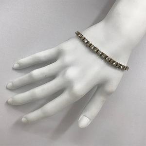 14K Gold Tennis Bracelet Cubic Zirconia 13 Grams